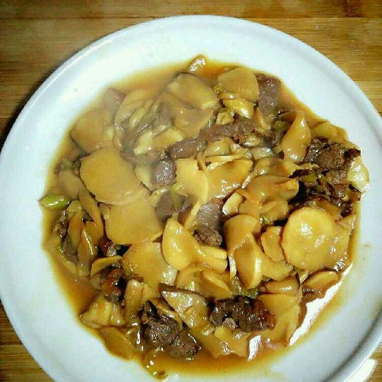 杏鲍菇炒肉的培根_美食_豆果菜谱超级做法鸡排堡好吃吗图片