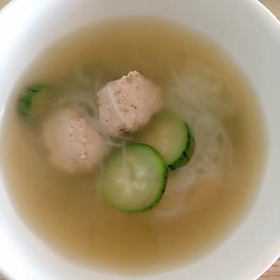 丝瓜粉丝丸子汤