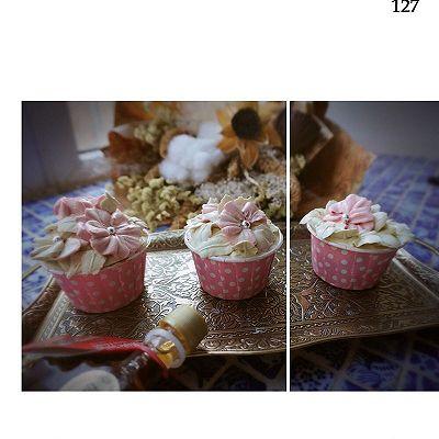 韩式裱花杯子蛋糕(配上简易淡奶油奶油霜做法)