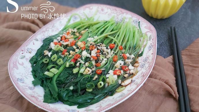 #花10分钟,做一道菜!# 蒜香鸡毛菜