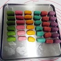 彩虹蛋黄酥的做法图解4