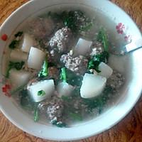 牛肉丸子萝卜汤的做法图解3
