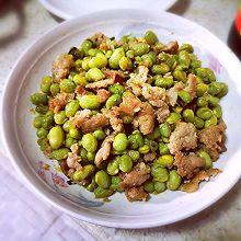 炒肉末毛豆#下饭菜#
