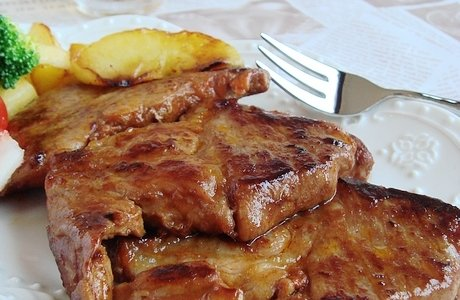 香煎梅花肉排的做法