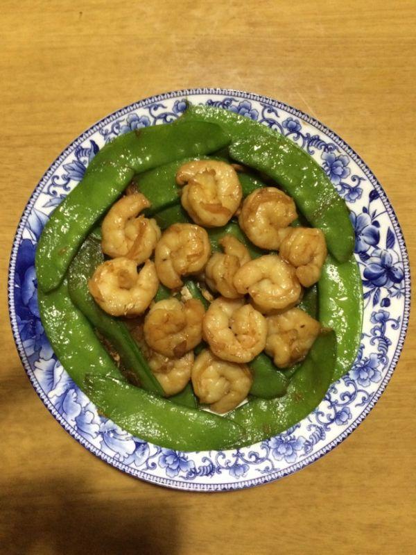虾仁炒荷兰豆的做法