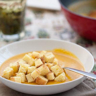 南瓜浓汤好喝的秘诀----奶香南瓜浓汤