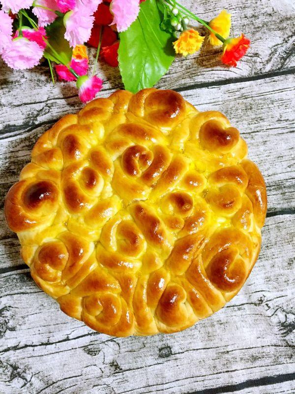 玫瑰花面包