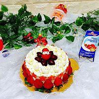 草莓雪人奶油蛋糕#安佳烘焙学校#