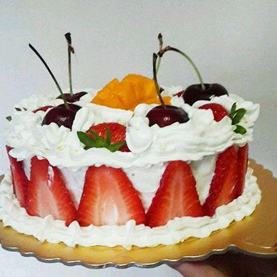 奶油奶酪水果夹馅蛋糕
