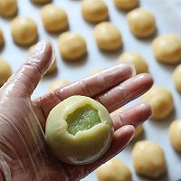 斑斓椰蓉和抹茶红豆馅月饼的做法图解14