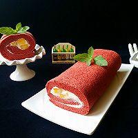 红丝绒蛋糕卷#相约MOF#的做法图解21