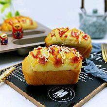 #美味烤箱菜,就等你来做!#火腿早餐小面包
