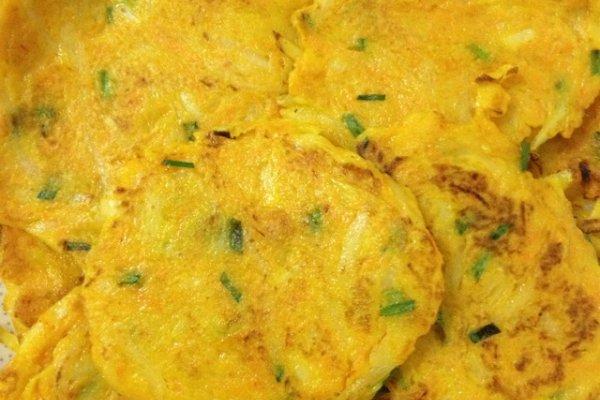 主料 1个 1个 适量 辅料   少量 盐少量 土豆饼的做法步骤 1.