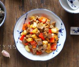 杏鲍菇黑椒牛排粒的做法