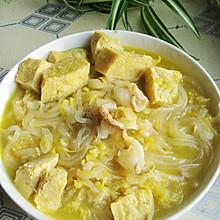 东北家常菜——酸菜炖冻豆腐(家乐浓汤宝试用)