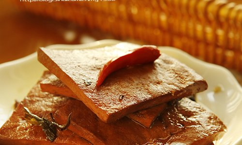 茶香卤豆干的做法