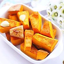 #秋天怎么吃#蒜香烤南瓜