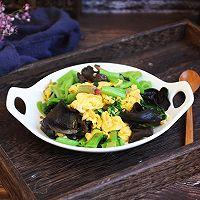 #秋天怎么吃# 菠菜木耳炒鸡蛋的做法图解15