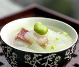 火腿蚕豆冬瓜汤的做法