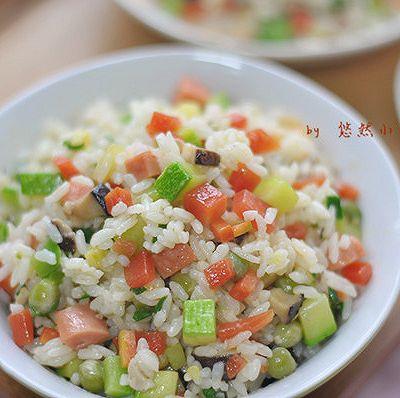 五彩炒饭——让孩子爱上米饭