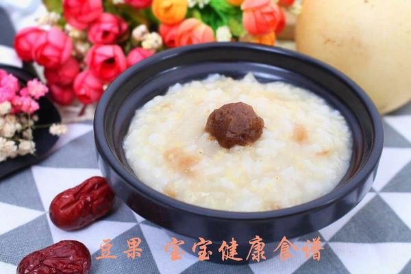 红枣银耳雪梨粥 宝宝健康食谱