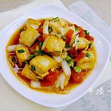 番茄白菜炒豆腐