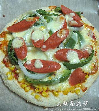 布上披萨手绘图片