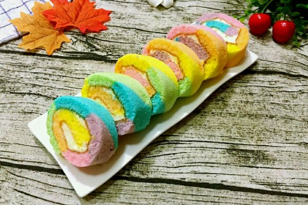 彩虹蛋糕卷的做法