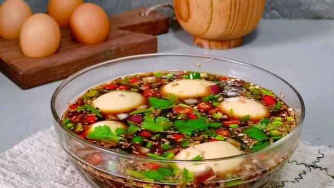 减脂餐❗️无敌好吃的韩式酱鸡蛋,好吃不胖 的做法