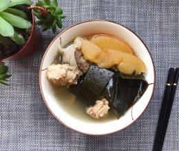 苹果海带煲排骨汤的做法
