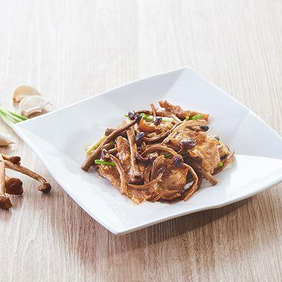 茶树菇炒猪颈肉