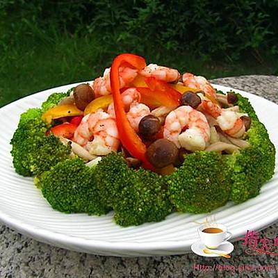 清爽凉拌菜的五大基本原则---鲜菇虾仁西兰花