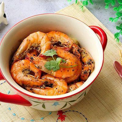 宴客菜 砂锅香草黑胡椒焗虾