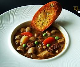 西式牛肉蔬菜浓汤的做法