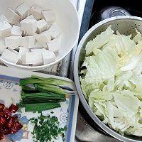 白菜烩豆腐的做法图解1