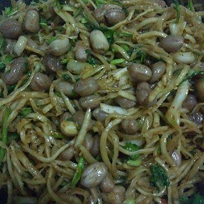拌芥菜丝——小米粥绝配