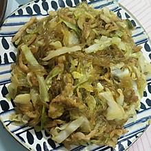 白菜炒粉丝(藤椒味)