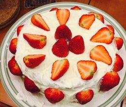 草莓奶油蛋糕,云朵上的棉花糖。(新手超详细食谱)的做法