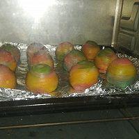彩虹蛋黄酥的做法图解26