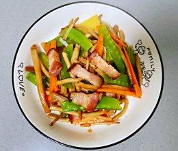 【孕妇食谱】腊肉炒茶树菇,香味扑鼻,味道鲜美超下饭~的做法
