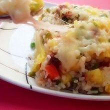 鲜虾培根芝士焗饭