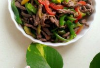 彩椒小炒牛肉的做法