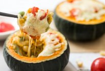 鲜蔬奶酪焗南瓜的做法