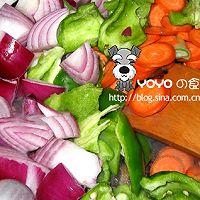 腊肉炒三蔬的做法图解3