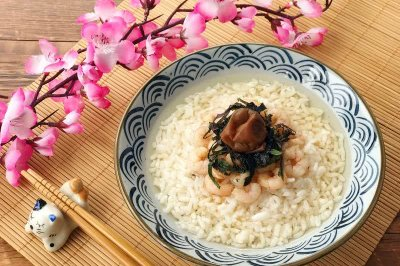 日式风味-龙井虾仁茶泡饭