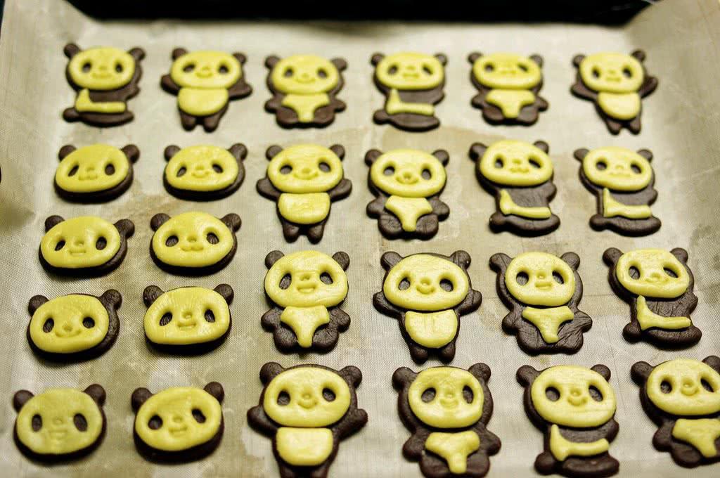 超萌熊猫饼干的做法图解6