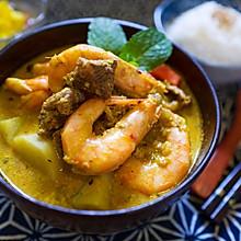 做出泰餐馆味道的咖喱虾