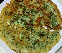 香椿鸭蛋饼的做法