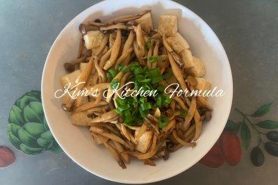 家常菜之1:柳姬菇澆汁豆腐