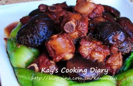 香菇青菜烧排骨的做法